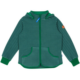 Finkid Kids Tonttu Striped Fleece Jacket trellis/leaf